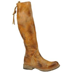 Bed Stu 8 Manchester II Tall Boots Lace Up Heeled